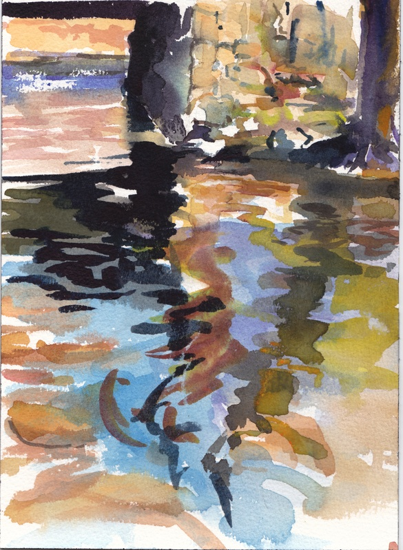 watercolor/stream study 2