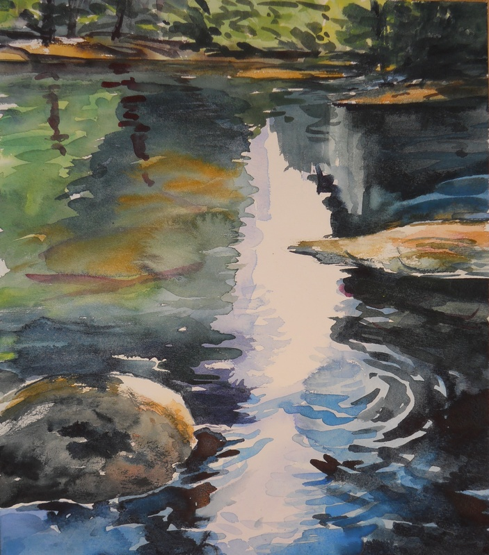 watercolor/ RSP water study